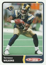 2003 Topps Total #221 Terrence Wilkins  - $0.50