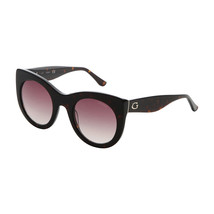 Womens Designer Sunglasses Guess GU7485 Brown Round Circular Cat Eye UV ... - £39.56 GBP