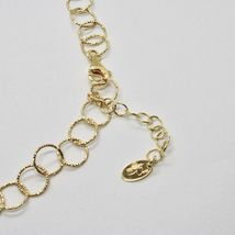 Choker Necklace Silver 925 Foil Gold with Circles by Maria Ielpo Made in Italy - image 7