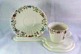 Spode Wicker Dale Demitasse Cup And Saucer Set #1891 - $14.39