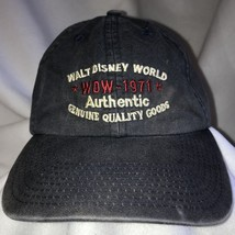 Walt Disney World WDW 1971 Mickey Mouse Navy Ball Cap Adj Strap Metal Buckle   - $29.69