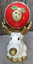 Vintage 1995 Omnibus Fitz & Floyd Rudolph Reindeer & Ornament Salt & Pepper - $25.00