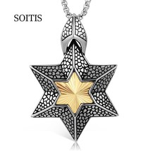 SOITIS Women Men Hexagonal Star of David Pendant Unique Special Design J... - $12.97