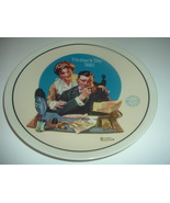 Norman Rockwell Gentle Reassurance Mothers Day Plate 1992 Vintage - $12.99
