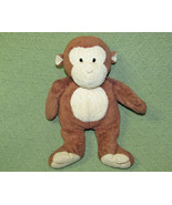 TY PLUFFIES DANGLES MONKEY BUTTON EYES 2002 STUFFED ANIMAL BABY PLUSH BR... - $27.12