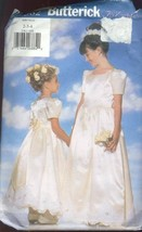 Butterick Sewing Pattern 5382 Girls Gown Size 2-4 Petticoat Party Dress - $7.91
