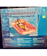 Inflatable Floating Lounge Chair Swimming Pool Float Kids Adults Large S... - $46.74