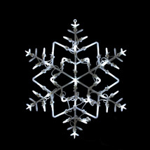 """Northlight 18"""" LED Lighted Snowflake Christmas Window Silhouette Decoration - £12.88 GBP"""