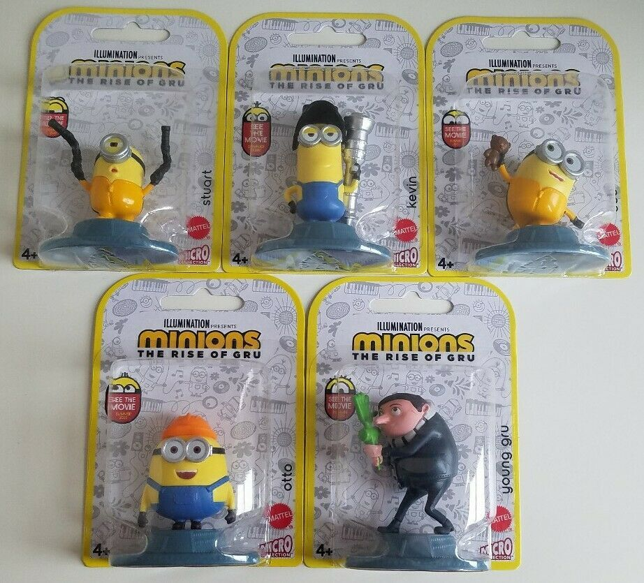 Primary image for MINIONS The Rise of Gru MINI FIGURES Lot OF 5 Collectibles New