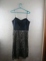 Ann Taylor Black Spaghetti Strap Sleeveless Lace Dress Size 8 - $13.98