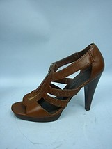 Jessica Simpson Brown Faux Leather Gladiator Pumps - Size 9 1/2B/39 1/2 - $27.06