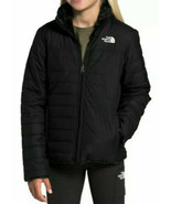 The North Face Girls Mossbud Swirl Parka Hooded Jacket TNF Black Size S ... - $85.50