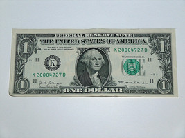 2017 $1 Dollar Bill US Bank Note Date Birthday Year 2000 4727 Fancy Mone... - $14.83