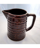 Marcrest Daisy Dot Stoneware Brown 8 inch USA Pottery Jugs Pitcher - $59.99