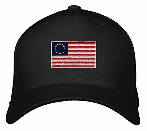 Betsy Ross Hat - Adjustable Snapback Cap USA Flag Red White and Blue