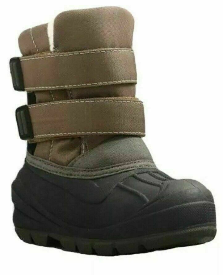 Cat & Jack Toddler Boys Brown Lev Faux Fur Thermolite Insulted Winter Snow Boots