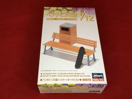 Hasegawa bench of 1/12 figure accessories series park and trash plastic FA model - $36.71