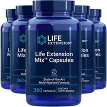 Life Extension Mix Capsules 5X360Caps Multivitamin Vitamin E/Amino Acid/... - $201.91