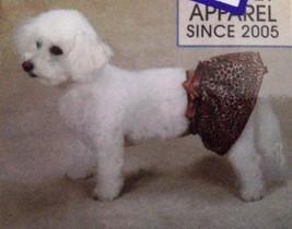 Cute DOG ANIMAL PRINT SKIRT Party Dress Medium Brown Leopard Print Dog C... - $8.95