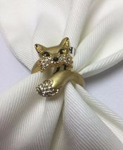 Kate Spade New York So Foxy Fox 12 K Gold Plated Ring Size 7 w/ KS Dust Bag New - $36.00