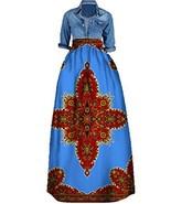 Huiyuzhi Women's African Print Skirts Long Maxi Skirt Dashiki Ball Gown ... - $26.92