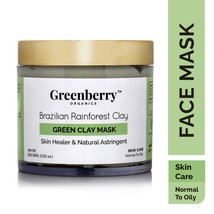 Greenberry Organics Brazilian Rainforest Green Clay Mask Normal to Oily ... - $21.04