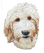 """2"""" x 2 1/2"""" Goldendoodle Dog Breed Portrait Embroidered Patch - $5.25"""