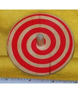 Toycrafter Whirligig spinning Top, Red Spiral, wooden 1986 - $4.75