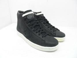 Converse Women's Mid-Cut Pro Leather Casual Shoes 155647C Black Size 7M - $37.99