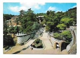 Spain Barcelona Parque Guell Park Entrance Vntg Zerkowitz Postcard 4X6 - $4.99