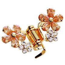 Sweet Flower Hair Claw Fashion Hair Clip Small Size Claw/Hairpin(Champagne)