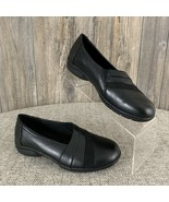 "Studio Works ""Blair"" Shoes Loafers Shoes Size 6.5 Black Faux Leather Sli... - £12.98 GBP"