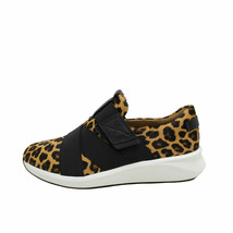 Clarks Un Rio Strap Leopard Women's Comfort Leather Sneakers 51744 - $114.00