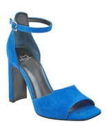 Marc Fisher Harlin Blue Suede Ankle Strap Sandals, Size 5.5 M - $39.59