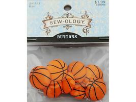 Hobby Lobby Sew-ology Basketball Button, Set of 8 #241513