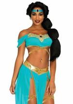 Leg Avenue Oasis Princesa Jasmine Árabe Adulto Mujer Disfraz Halloween 8... - $52.48