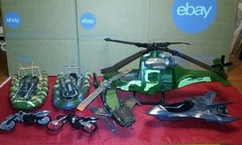 Lanard Military Pieces Action Figures Helicopter Boats Motorcycles and More - $49.45