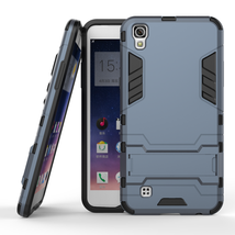 Hybrid Kickstand Protective Cover Case for LG X Power K210 / K6P - Navy ... - $100,87 MXN