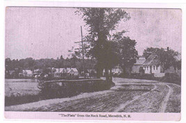 The Flats from Neck Road Meredith New Hampshire 1910c postcard - $6.44