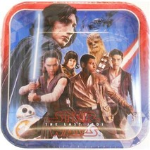 Star Wars EP 8 The Last Jedi Square Lunch Plates 8 Ct Birthday Party Sup... - $3.94