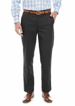 Greg Norman ~ P5TG10 ~ Slim Fit/Flat Front Pants ~ Charcoal  ~ Men's 38 ... - $31.68