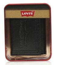 Levi's Men's Premium Leather Credit Card Id Wallet Trifold Black 31LP1122 image 5