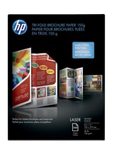 HP Laser Glossy Tri-fold Brochure Paper 150 gsm-150 sht/Letter/8.5 x 11 in - $84.59