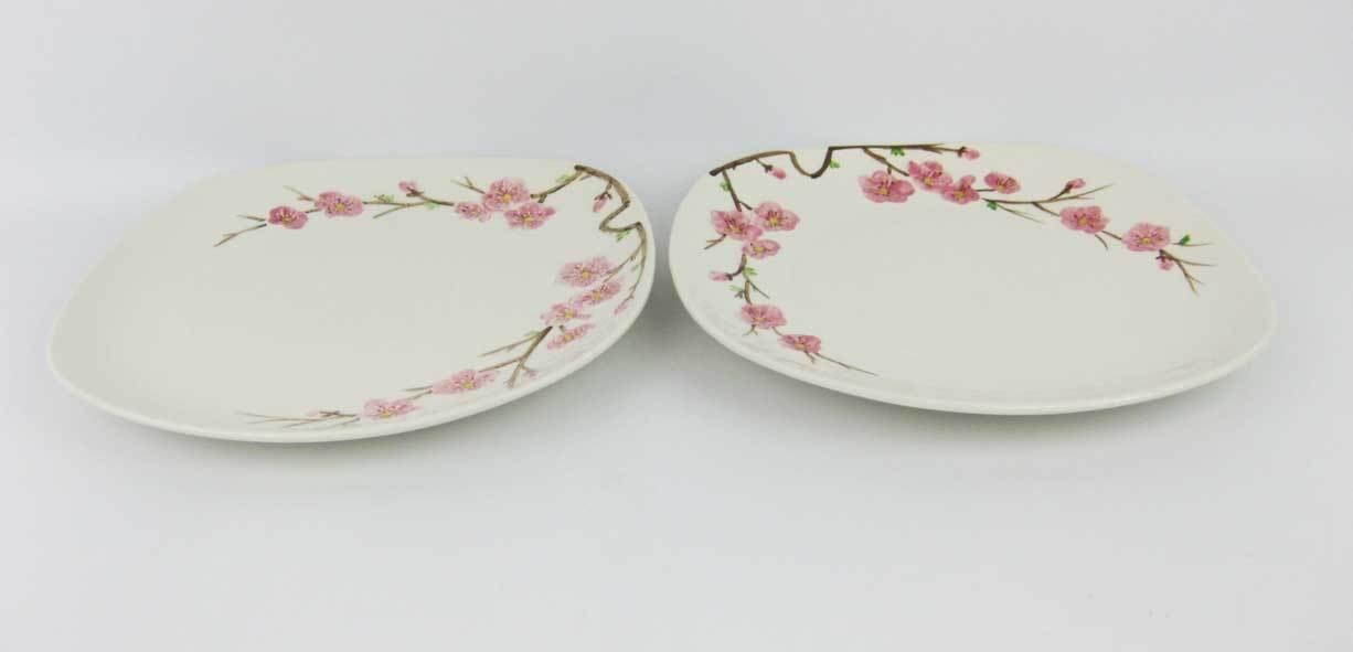 Vintage Metlox Poppytrail Peach Blossom Dinner Plates (2)Circa 1950\u0027s California  sc 1 st  Bonanza & Vintage Metlox Poppytrail Peach Blossom and 45 similar items