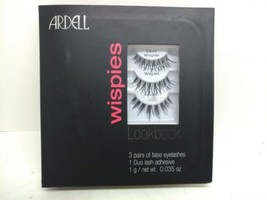 Ardell Wispies Lookbook 3 pairs Of False Eyelashes + Adhesive L1 - $7.99