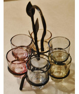 VTG Shots Rack and Rainbow of Iridescent Shot Glasses - Amazing Looking - WoW - $33.30