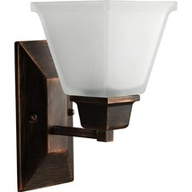 Progress Lighting P2733-74 1-Light Bath Fixture with Square Etched Glass... - $45.17