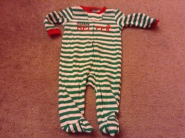 Just One You by Carters santas helper green stripe sleeper Sz nb newborn  new  - $5.89
