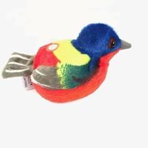 Painted Bunting Plush Stuffed Animal Bird with Sound - $10.95