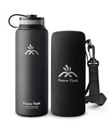 40 oz Stainless Steel Water Bottle, Fnova Flask... - $25.36